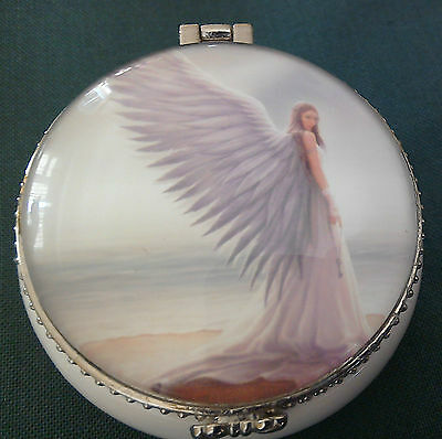 Anne Stokes Spirit Guide Angel small trinket/jewellery/pill box 5.5 x 2 cm boxed