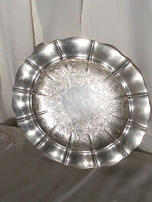 "Gorham # 42644 Sterling Silver 13-1/4"" Round  Serving Tray Platter"