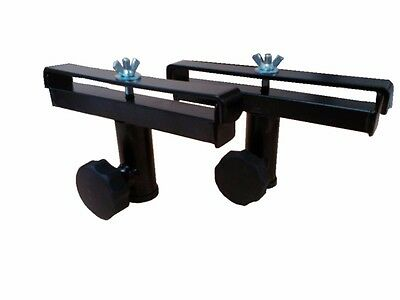 PAIR OF DJ DISCO LIGHTING STAND LIGHT FITTINGS ADAPTORS - POLES FROM 25mm - 28mm