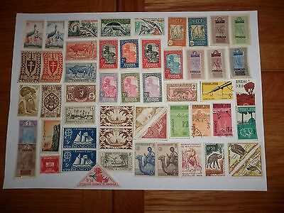 France Stamps Assortment Of Colonies