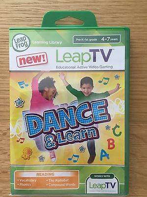 Leapfrog LeapTV Leap TV Dance & Learn game - cartridge with instructions