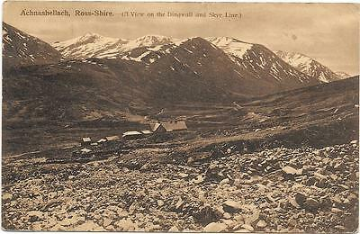 Achnashellach,ross-Shire ,early Sepia  Postcard.posted 1910