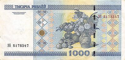 Belarus  1000  Rubles  2000  P 28a   Circulated Banknote W0617