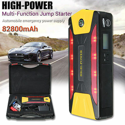 12V 82800mAh 4-USB Car Jump Starter Pack Booster Charger Battery Power Bank
