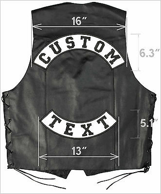 """16"""" + 13"""" ROCKER PATCH SET: large patches CUSTOM Top bottom rockers best quality"""