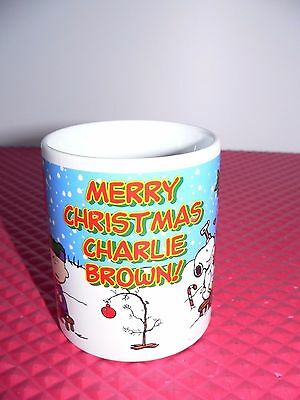 Peanuts Merry Christmas Charlie Brown Mug Lucy Psychiatric Help Snoopy Xmas Tree