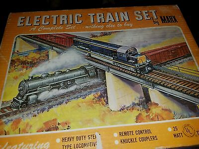 Electric Train Set By Marx # 4040 Heavy Duty Steam Type Locomotive With Tender 8
