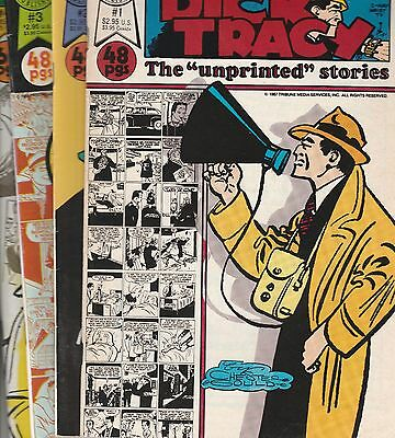 Blackthorne 1987 Dick Tracy : Unprinted Stories 48 page issues 1 2 3 4 Gould