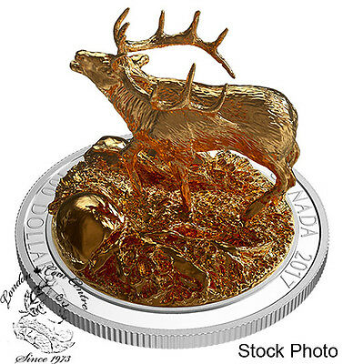 Canada 2017 $100 Sculpture of Majestic Canadian Elk 10 oz Silver Coin