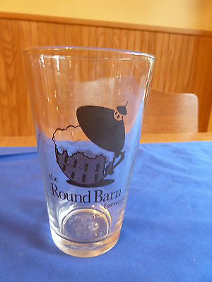 The Round Barn Brewery Pint Beer Glass Well Rounded Ales Logo Design NICE