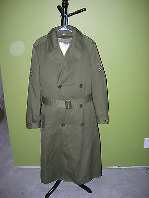 US winter trench coat with 3rd Army badge (1953)