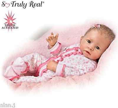 "Ashton Drake Baby ""Katie"" Interactive breathes, coos  heartbeat,Weighted doll"