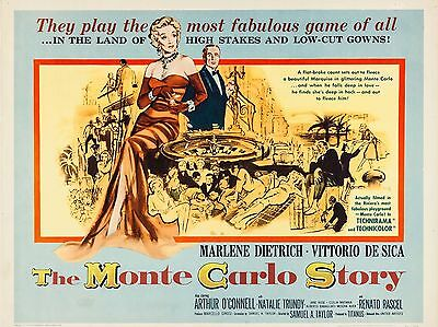 """The Monte Carlo Story 16"""" x 12"""" Reproduction Movie Poster Photograph"""