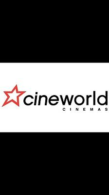 Cineworld Adult 2D E Voucher/ticket Free Postage. Special Price For Today