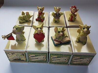Collection of 8 The Whimsical World of Pocket Dragons. Boxed