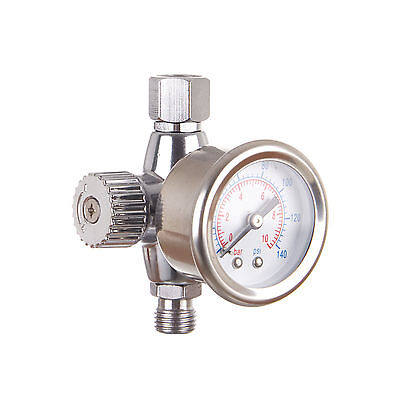 "ITALCO 1/4"" Air Pressure Gauge Regulator for Spray Gun Air Tools"