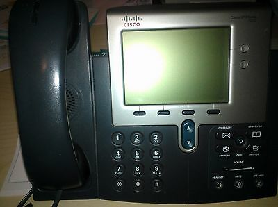 Cisco CP-7942G VoIP POE Phone with stand and handset - Lightly used
