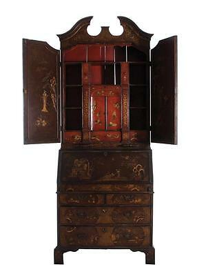 Queen Anne style chinoiserie-decorated secretary bookcase Lot 12
