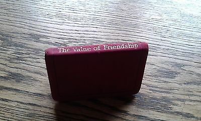 Antique Miniature Book - The Value Of Friendship - c1900 - Leather Cover