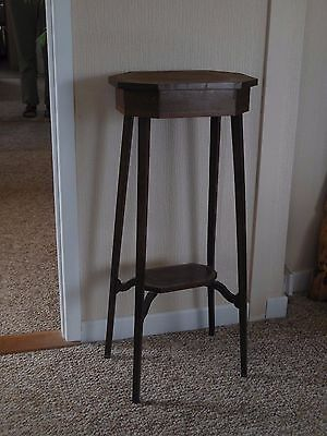 Plant stand,vintage.Shaped support to lower shelf