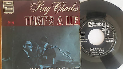 -Vintage 45' - Ray Charles . That's A Lie