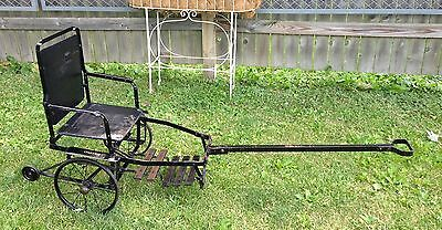 Rare Antique Collapsible Rick Shaw / Invalid Chair / Outing Stroller / Seat