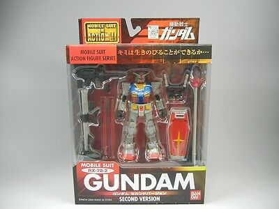 "MSIA Mobile Suit In Action ""RX-78-2 Gundam Second Version"" Action Figure BANDAI"