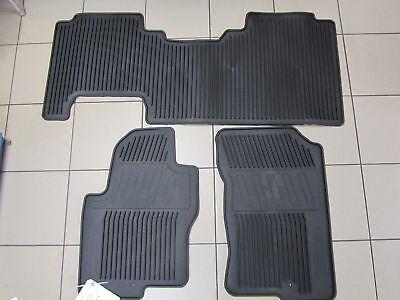 New Oem 2008-2019 Nissan Frontier King Cab -All Season Rubber Mats - 3 Piece Set