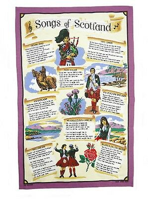 Scottish Tea Towel/Cloth 'Songs of Scotland' Gift From Scotland