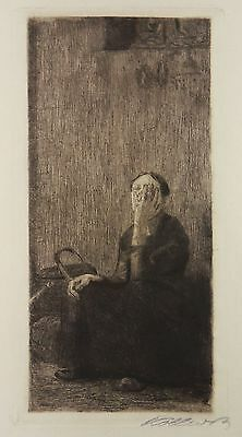 Käthe Kollwitz Radierung 1893 An Der Kirchenmauer By The Church Wall Etching