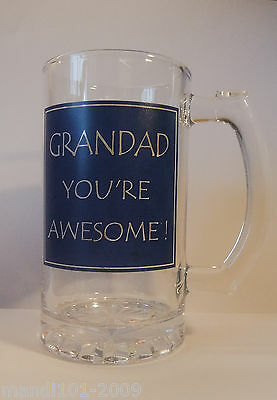 Joblot 4 X Grandad Your Awesome Tankard By Lesser & Pavey,