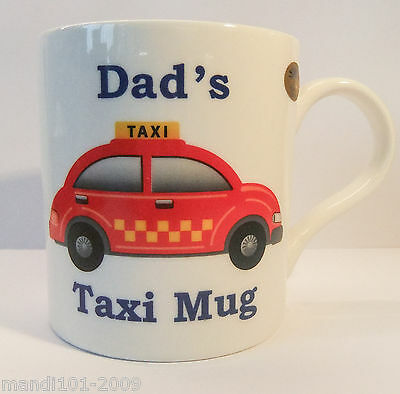 JOBLOT 6 X DADS TAXI 12 oz MUG- FATHERS DAY,BIRTHDAY,CHRISTMAS PRESENT