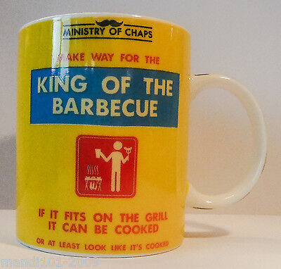 Joblot 5 X King Of The Barbecue Mug By Ministry Of Chaps,gift Boxed Humerous Mug