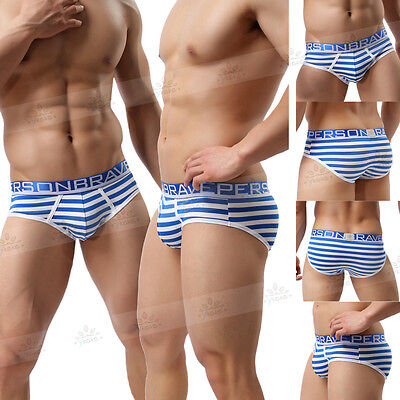 Men's Bulge Pouch Boxer Briefs Cotton Underwear Breathable Trunk Underpants