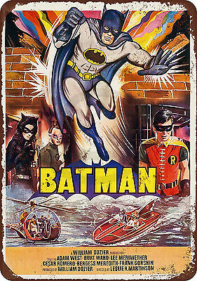 1966 Batman Movie Vintage look Reproduction Metal sign 8 x 12