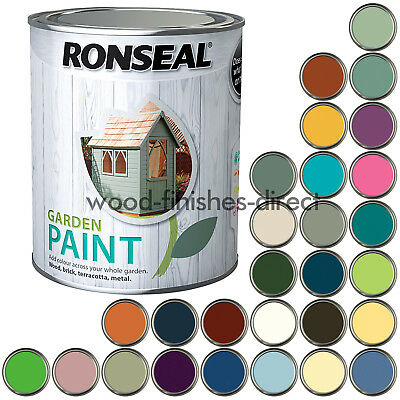 Ronseal Exterior Garden Paint - Available in 28 Colours - 750ml & 2.5L