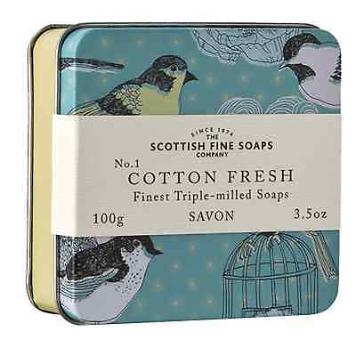 Cotton Fresh Soap in Tin - The Scottish Fine Soap Co