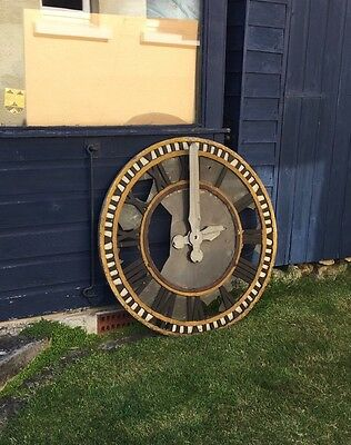 Large Vintage Cast Iron Clock Dial And Pulse Movement Unrestored Condition