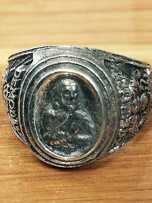 VINTAGE sterling silver masonic demolay chevalier ring size 12