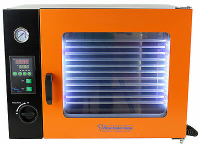 1.9CF Vacuum Oven - Stainless Steel Interior w/ LED Display, LED's and 5 Shelves