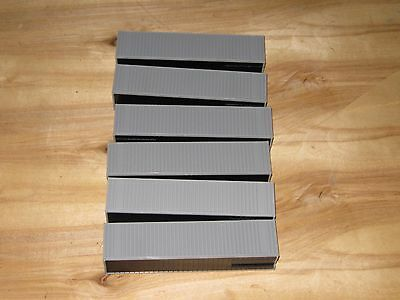 Walthers HO 40' Container, Lot of 6 Ribbed Undecorated Assembled New Units...