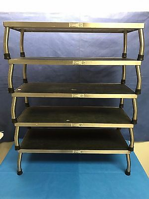 "Lot of 5, Smith & Nephew / Wilson, Large Medical Step Stool, 30"" X 12, Stainless"