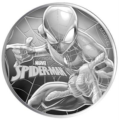 Tuvalu - 1 Dollar 2017 - Spiderman / Marvel Serie - 1 Oz Silber Stempelglanz