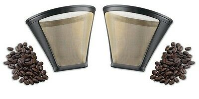 Cuisinart GTF-4 Gold Tone Filter for DCC-400 Coffee Maker, Set of 2