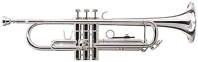 Professional Brass Bb Trumpet 3 Stainless Steel Valves Mouthpiece Sturdy Case