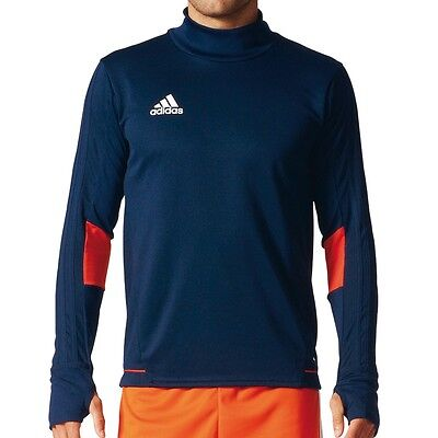 adidas Performance Tiro 17 Training Top blau/orange - Fußball Longsleeve BQ2744