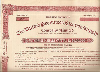 India share certificate: The United Provinces Electric Supply Company Limited