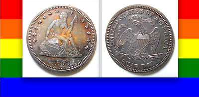 """1873 Proof $34,500 PCGS Price Guide in MS! """"CLOSED 3"""" Seated Liberty Quarter 25C"""
