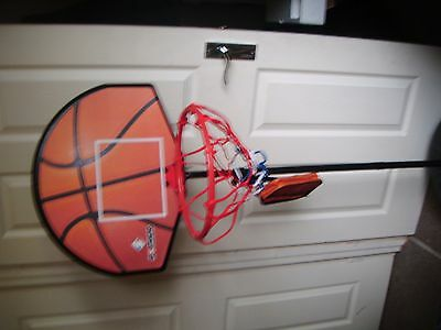 Basketball Hoop Net Adjustable Stand  With Dart Board On Reverse