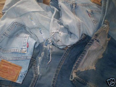 Levis Lotto Stock 50 Jeans Rotti Per Vintage Remake Vintage